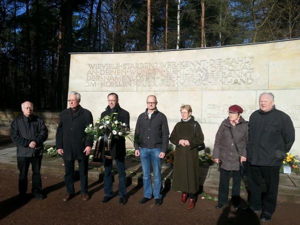Gedenken an die Opfer der Luftangriffe