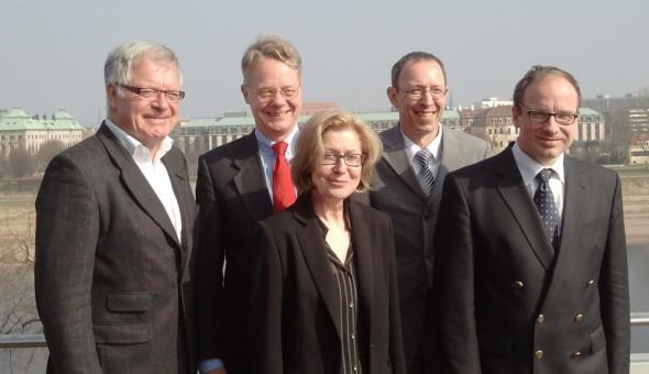 Die Teilnehmer der Pressekonferenz am 7.3.2014 Foto: Dirk Taphorn