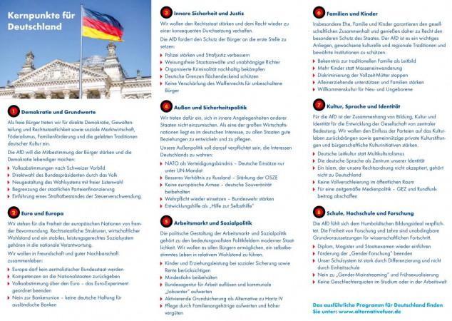 """Faltblatt für """"Programmoffensive"""""""