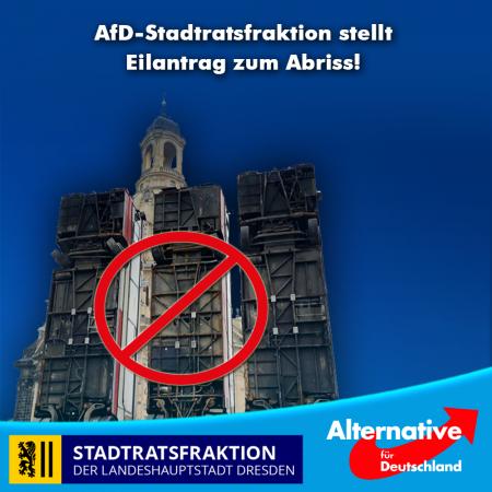 """Bus-""""Monument"""" spaltet Dresden AfD-Stadtratsfraktion stellt Eilantrag zum Abriss"""