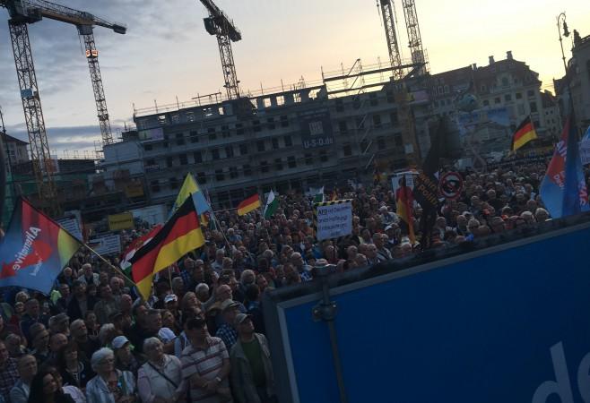 Auftakt-Kundgebung der AfD Dresden zur Bundestagswahl war ein voller Erfolg