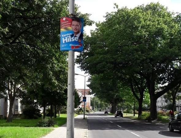 """Blaue Straßen bis in die """"Karsten-Hilse-Stadt"""""""