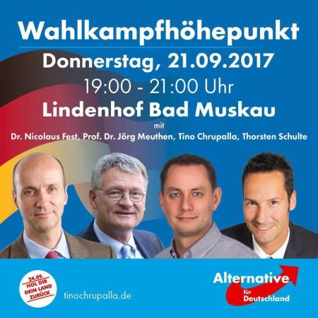 Wahlkampfhöhepunkt am 21.9. in Bad Muskau