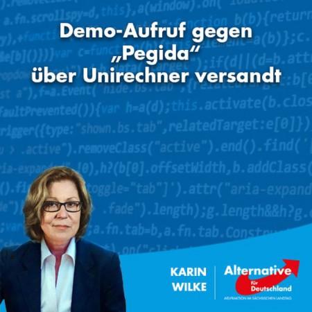 """Demo-Aufruf gegen """"Pegida"""" über Uni-Rechner versandt"""