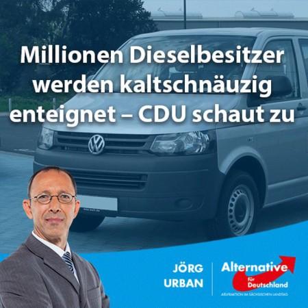 Millionen Dieselbesitzer werden kaltschnäuzig enteignet – CDU schaut zu