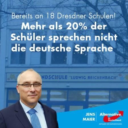 Jens Maier: Mehr als 20 Prozent der Dresdner Schüler sprechen nicht die deutsche Sprache