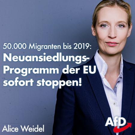 Alice Weidel: Neuansiedlungs-Programm der EU sofort stoppen!