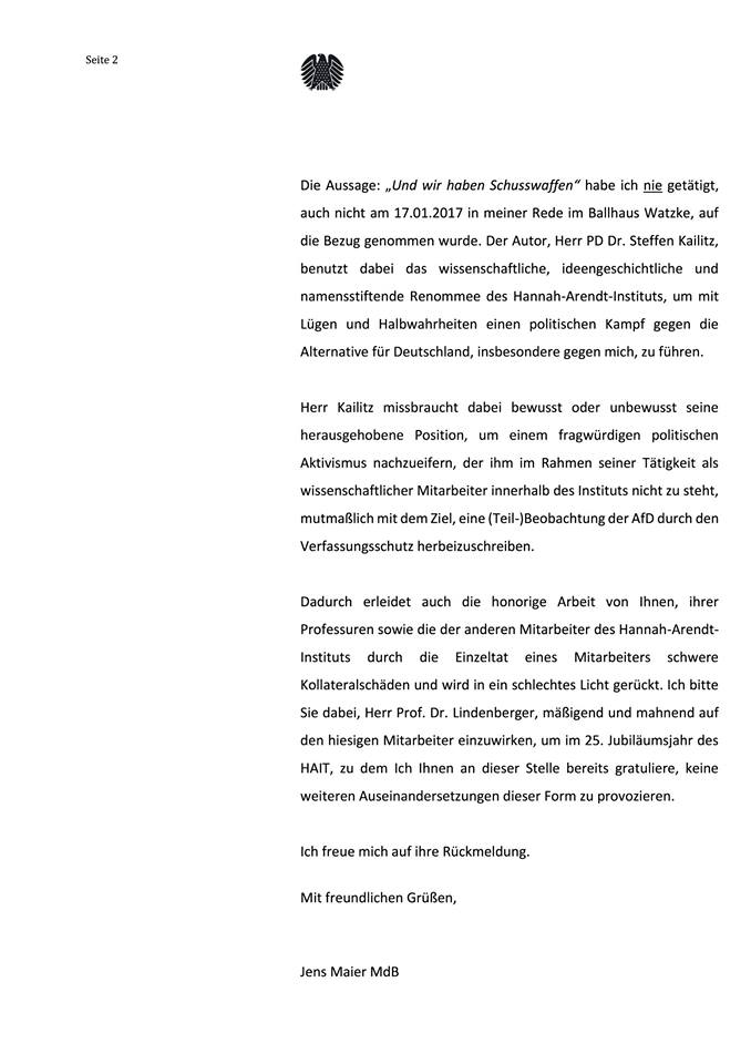 20180511 Offener Brief Jens Maier 2