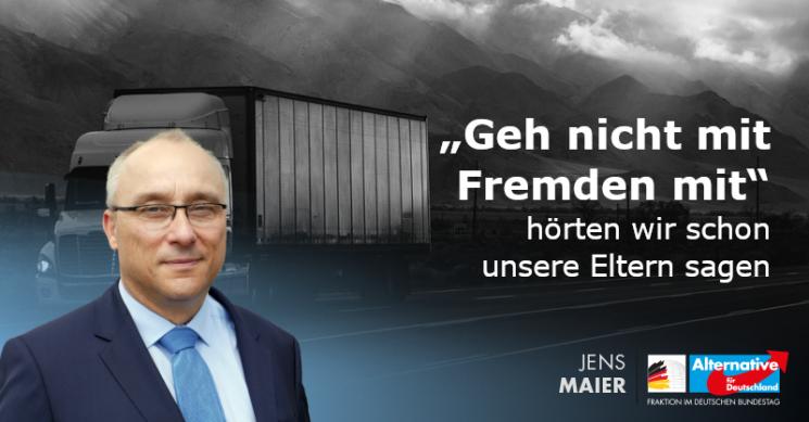 Jens Maier: »Geh nicht mit Fremden mit«