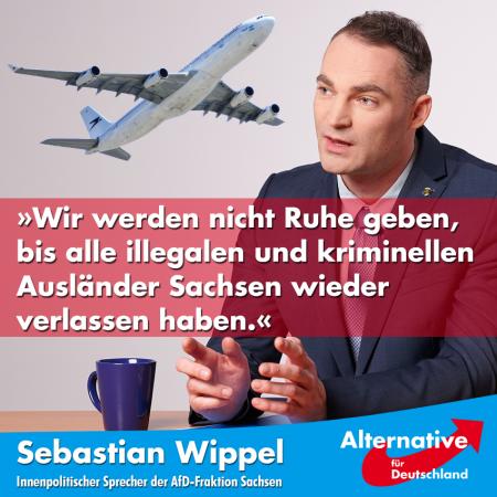 Sebastian Wippel: Bei 11.850 Ausreisepflichtigen gibt es keinen Grund, sich über 14 Abschiebungen zu freuen