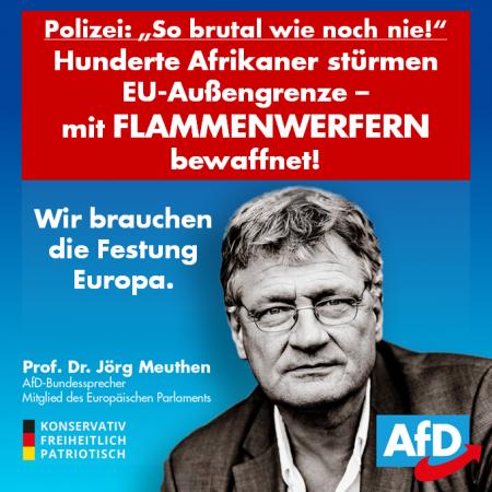 Jörg Meuthen: Festung Europa gegen brutale Angreifer aus Afrika