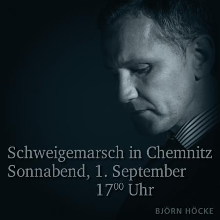 Höcke, Kalbitz, Urban: Aufruf zum Schweigemarsch in Chemnitz