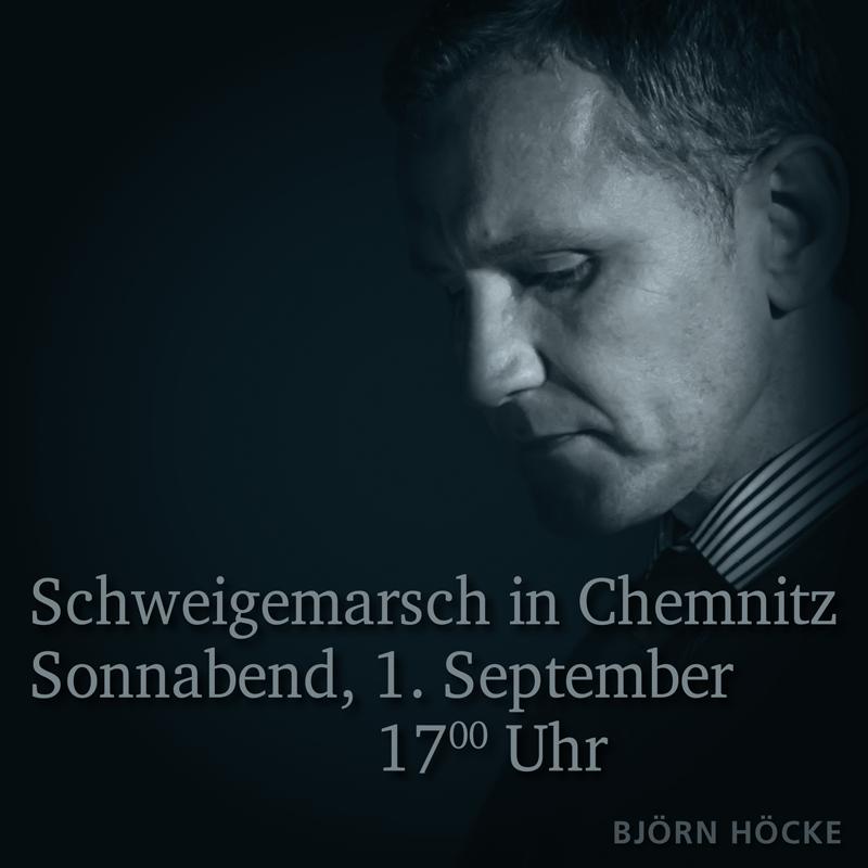 20180828 Björn Höcke Chemnitz Schweigemarsch