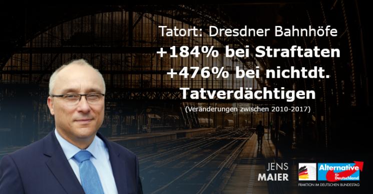 Jens Maier: Kriminalität an Dresdner Bahnhöfen