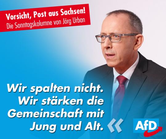 Jörg Urban: Unsere Opposition richtet sich nicht gegen Menschen