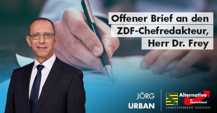 Jörg Urban: Offener Brief an den ZDF-Chefredakteur, Herr Dr. Frey