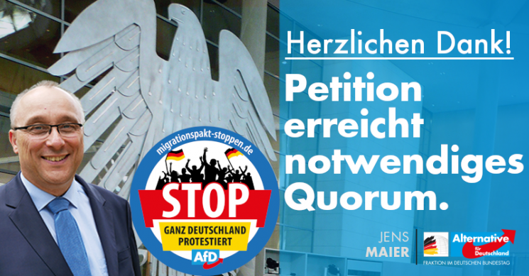 Jens Maier: Petition erreicht notwendiges Quorum