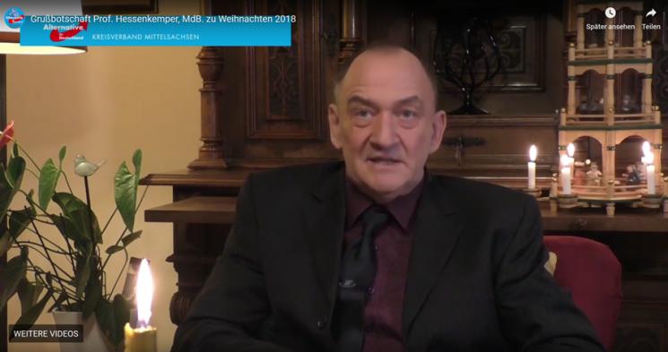 Grußbotschaft von Prof. Hessenkemper zu Weihnachten