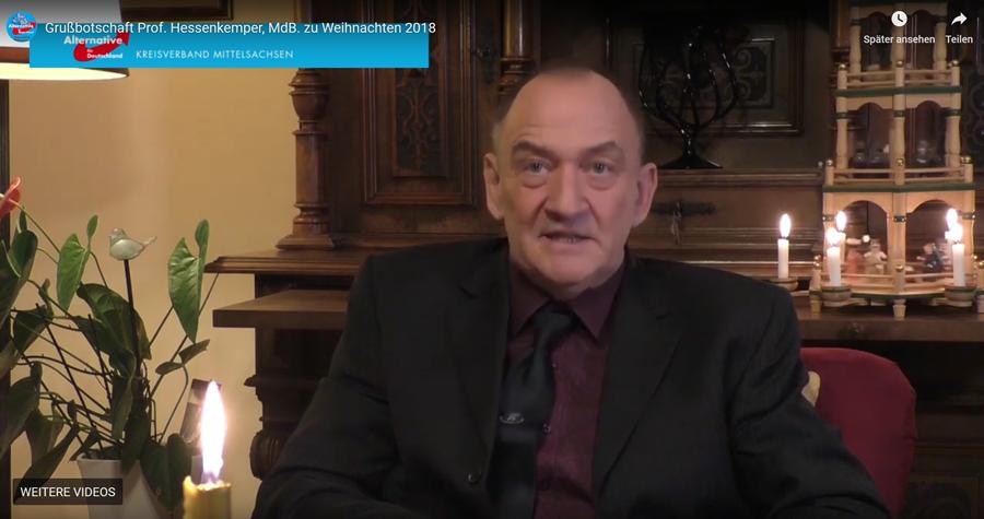 20181221 Grußbotschaft Prof Hessenkemper MdB zu Weihnachten 2018
