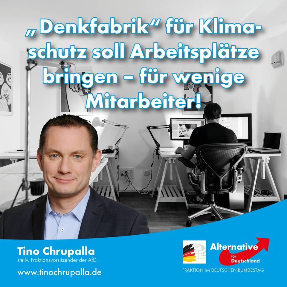 """20190308 Tino Chrupalla zur """"Denkfabrik"""" für Klimaschutz"""