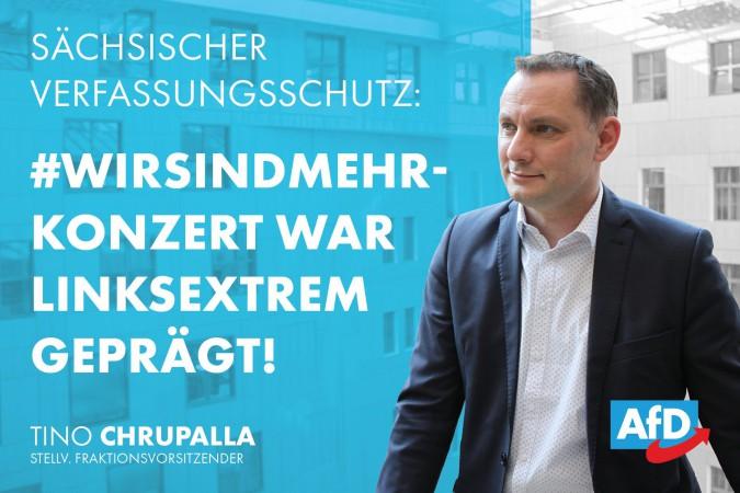 """Tino Chrupalla: Vom Bundespräsidenten empfohlen – Sächsischer Verfassungsschutz nennt """"Wir sind mehr""""-Konzert linksextrem"""