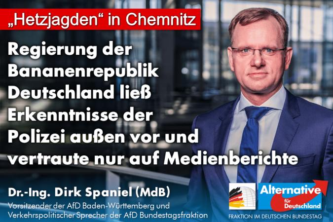 """""""Hetzjagden-Aussage"""" zu Chemnitz beruht nur auf Medienberichten"""