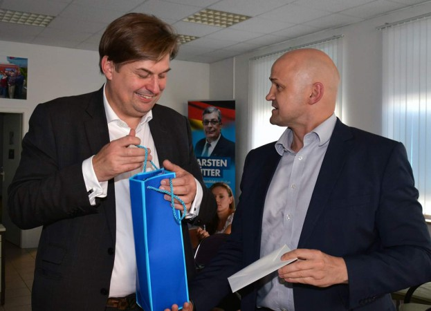 Dresdner Europa-Abgeordneter Dr. Maximilian Krah eröffnete Büro in Riesa