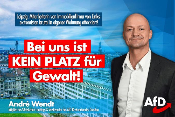 André Wendt: Bei uns ist kein Platz für Gewalt!