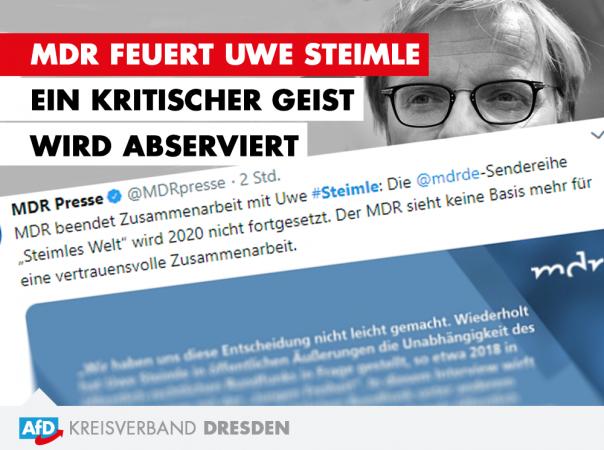 MDR feuert Uwe Steimle - Ein kritischer Geist wird abserviert