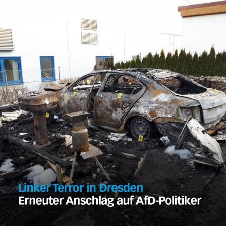 Wann gibt es den ersten Toten? - Erneuter Anschlag auf AfD-Politiker in Dresden