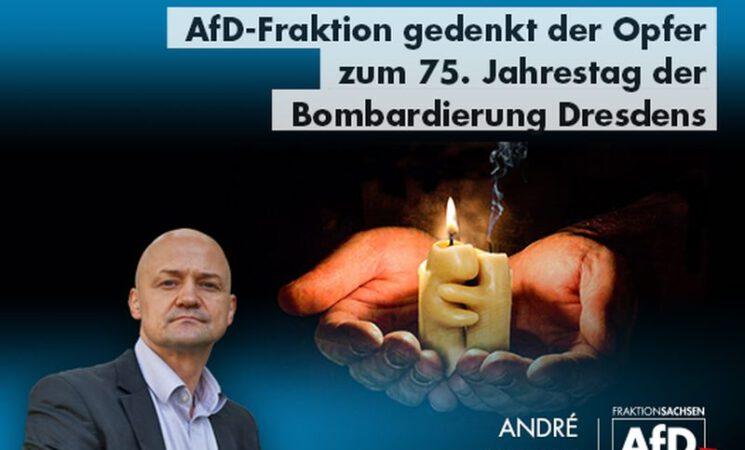AfD gedenkt der Opfer zum 75. Jahrestag der Bombardierung Dresdens