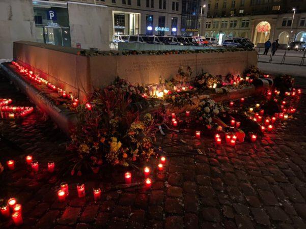 Stilles Gedenken für die Opfer der alliierten Bombenangriffe auf Dresden