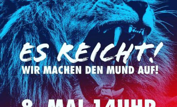 Sonnabend, 08.05.2021 / 14 Uhr, Kundgebung für unsere Grundrechte auf dem Dresdner Altmarkt