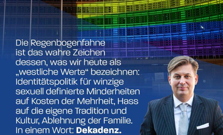 Dr. Maximilian Krah: +++ Schluss mit der LGBT-Dauerberieselung! +++