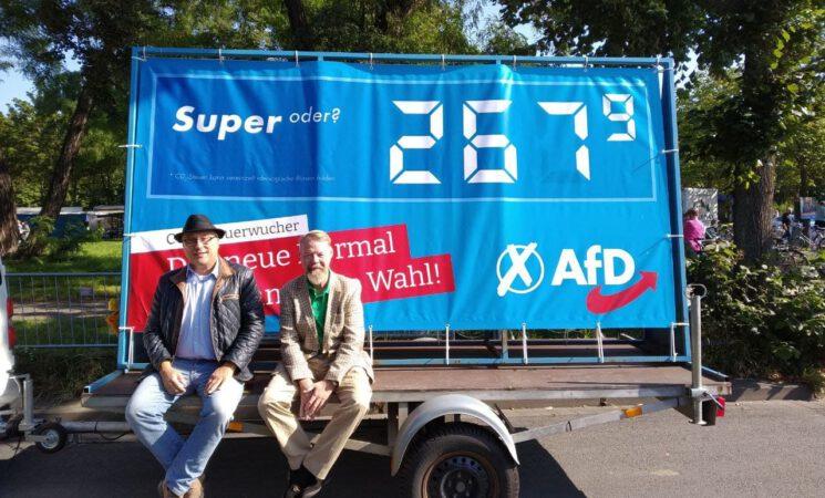 Unsere beiden Bundestagskandidaten für Dresden, Jens Maier (WK 159) und Andreas Harlaß (WK 160)