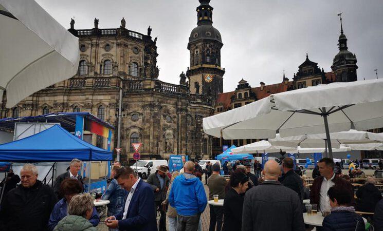 Eindrücke vom Sommerfest Theaterplatz / Dresden, Sonnabend, 18.09.2021
