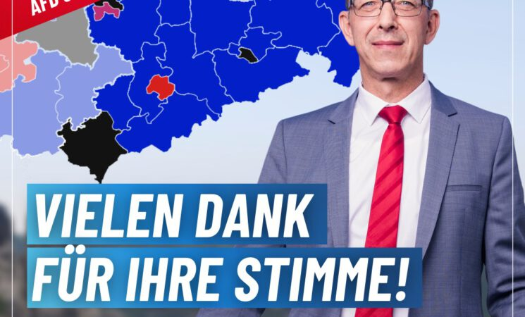 Stärkste Kraft in Sachsen - Vielen dank für Ihre Stimme